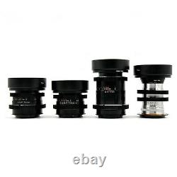 Carl Zeiss 35/50/85/135mm Cine Modded Lenses Set For Canon EF Mount with Case