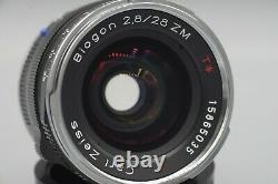 Carl Zeiss Biogon ZM T 28mm f2.8 Leica M Mount Wide Angle Lens