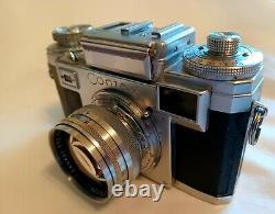 Carl Zeiss Ikon Contax IIIa 35mm Film Camera with Sonnar 50mm F/1.5 lens 2 Issues