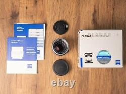 Carl Zeiss Planar ZM T 50mm f2 Leica M Mount Lens Boxed