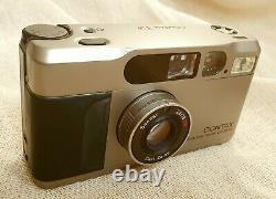 Contax T2 35mm Camera with Carl Zeiss f/2.8 Lens, case, strap, and manual