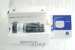 Excellent in BoxCarl Zeiss Distagon T 35mm F2 ZF2 for Nikon-F Ai-s #4043