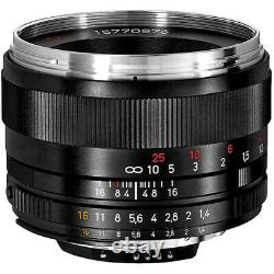 New Carl ZEISS PLANAR T 50mm f/1.4 ZF. 2 for Nikon Ai-s Manual Focus Lens