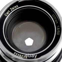RARE! CARL ZEISS IKON ULTRON 50mm F1.8 LENS CONVERTED CANON EF MOUNT / 90D W