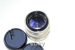 RARE Silver Carl Zeiss Jena Biotar RED T 12 F=58 MM SLR lens M42 EXC