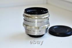 RARE Silver Carl Zeiss Jena Biotar RED T 12 F=58 MM SLR lens M42 mount EXC