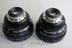 USED Zeiss Compact Primes CP1 PL Mount, Imperial