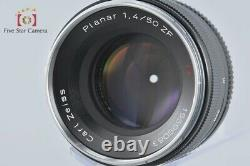 Very Good! Carl Zeiss Planar 50mm f/1.4 ZF T for Nikon